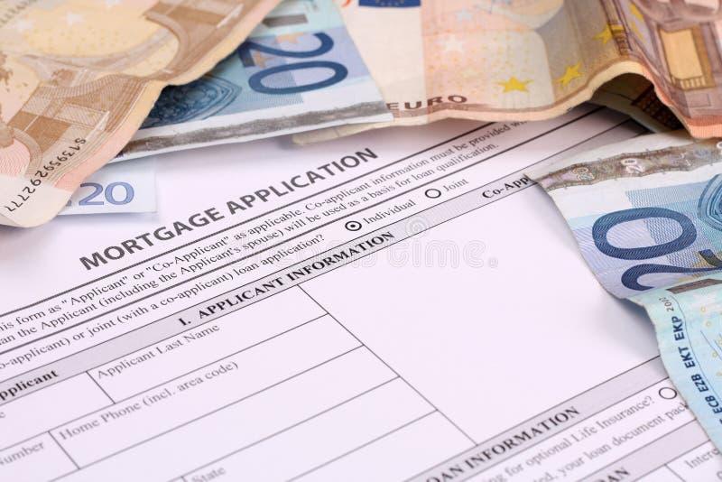 στεγαστικό δάνειο αίτηση& στοκ εικόνα με δικαίωμα ελεύθερης χρήσης