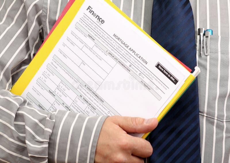 στεγαστικό δάνειο αίτηση& στοκ φωτογραφία με δικαίωμα ελεύθερης χρήσης
