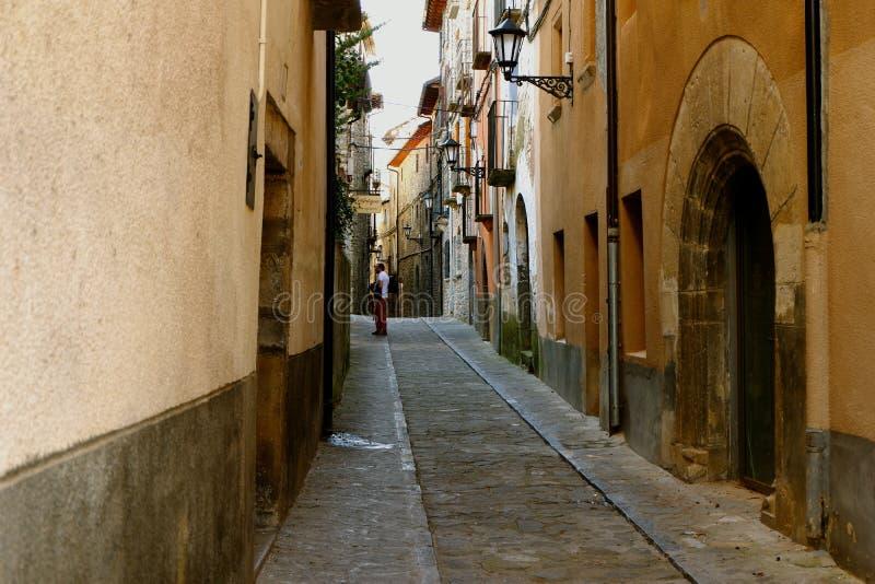 Στενές οδοί Boltanya, ισπανική επαρχία στοκ εικόνες με δικαίωμα ελεύθερης χρήσης