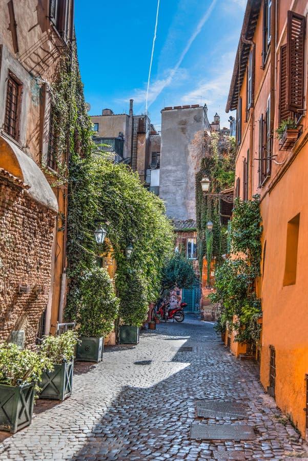Στενή αλέα σε Trastevere στοκ εικόνα