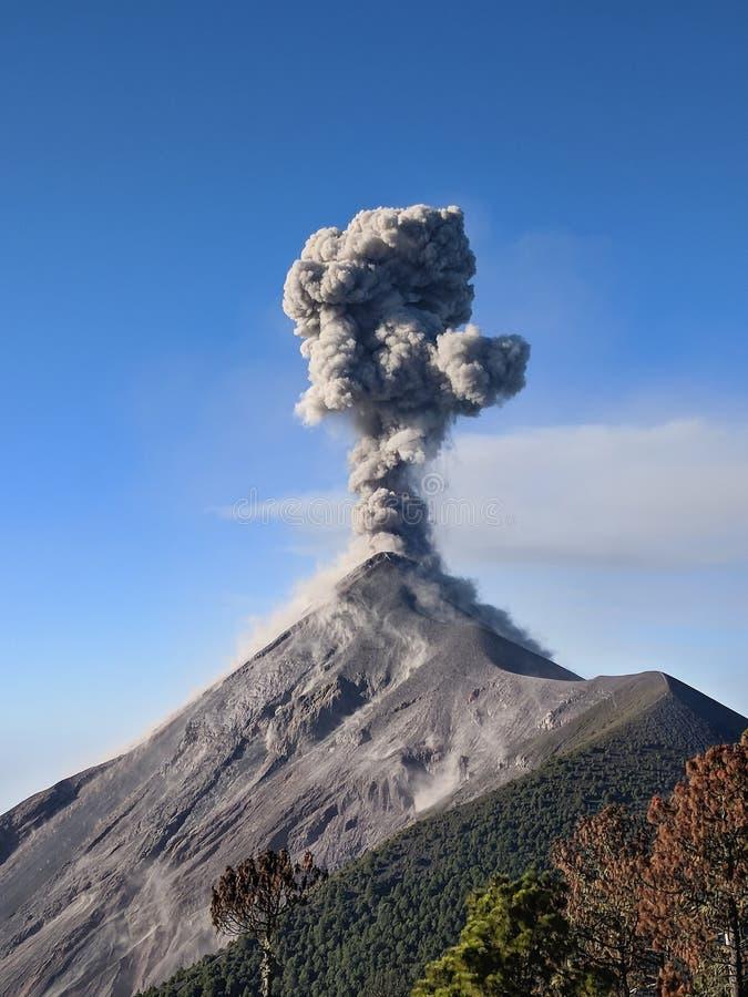 Στενή ανεμπόδιστη άποψη της έκρηξης ηφαιστείων Fuego, Γουατεμάλα, Κεντρική Αμερική στοκ εικόνα με δικαίωμα ελεύθερης χρήσης