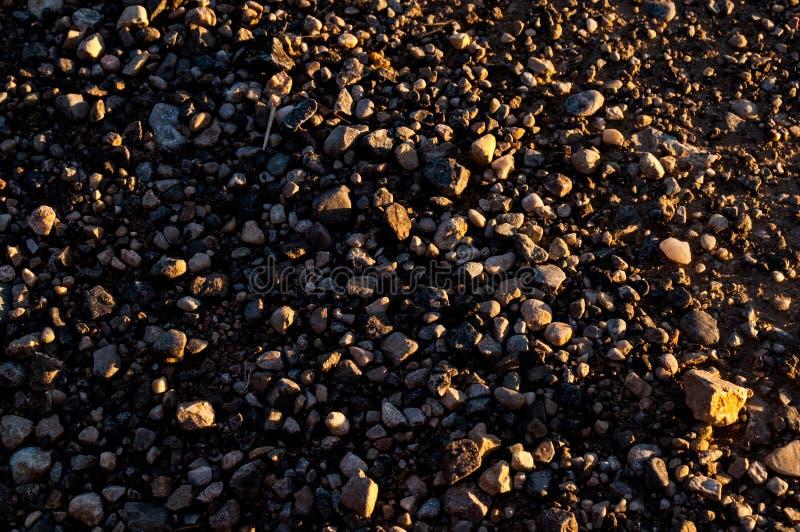 Στενή επάνω εικόνα αμμοχάλικου οδών στοκ φωτογραφία με δικαίωμα ελεύθερης χρήσης