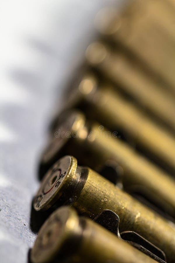 Στενή επάνω λεπτομέρεια όπλων σφαιρών στοκ εικόνες
