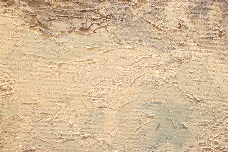 Στενή επάνω σύσταση ελαιογραφίας με τα κτυπήματα βουρτσών στοκ εικόνες