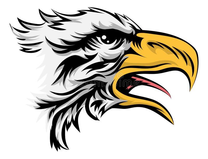 στενή επικεφαλής στάση αετών που στέκεται επάνω ελεύθερη απεικόνιση δικαιώματος