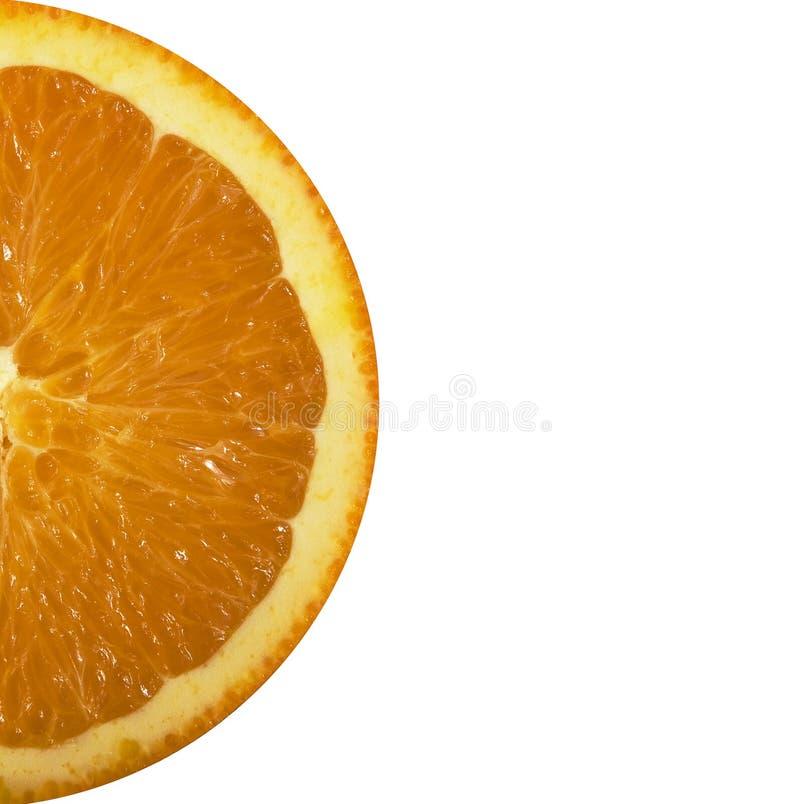 στενή ζωηρόχρωμη πορτοκαλιά φέτα επάνω στοκ φωτογραφία με δικαίωμα ελεύθερης χρήσης