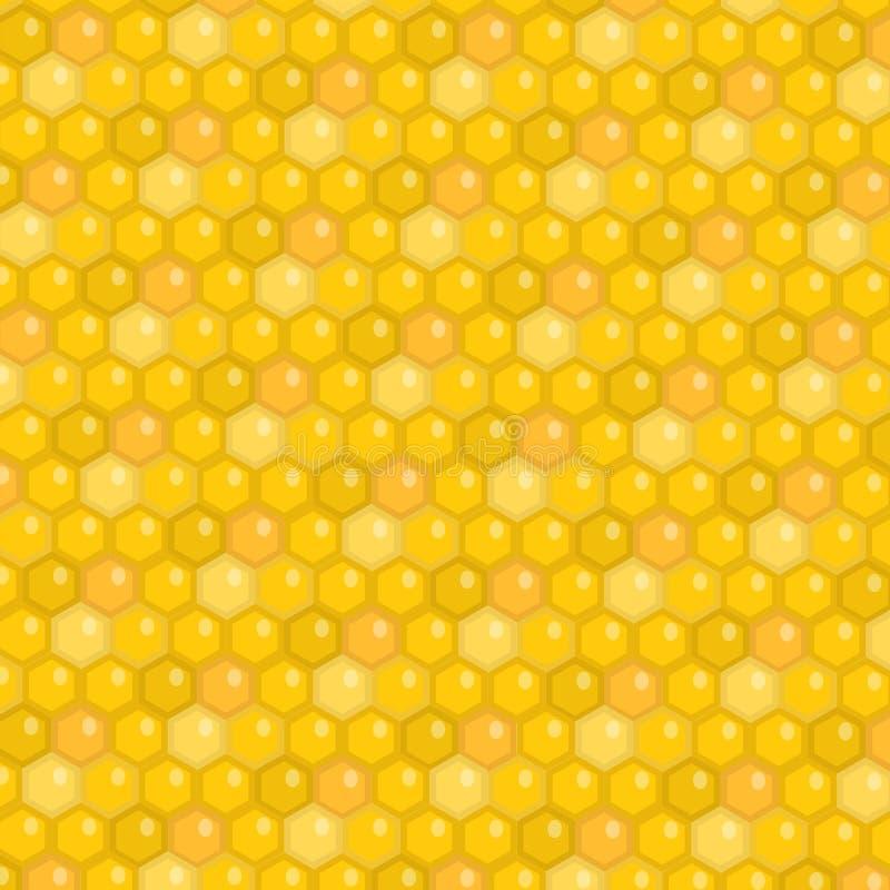 στενή κυψελωτή εικόνα ανασκόπησης επάνω Σύσταση μελιού, ταπετσαρία επίσης corel σύρετε το διάνυσμα απεικόνισης διανυσματική απεικόνιση