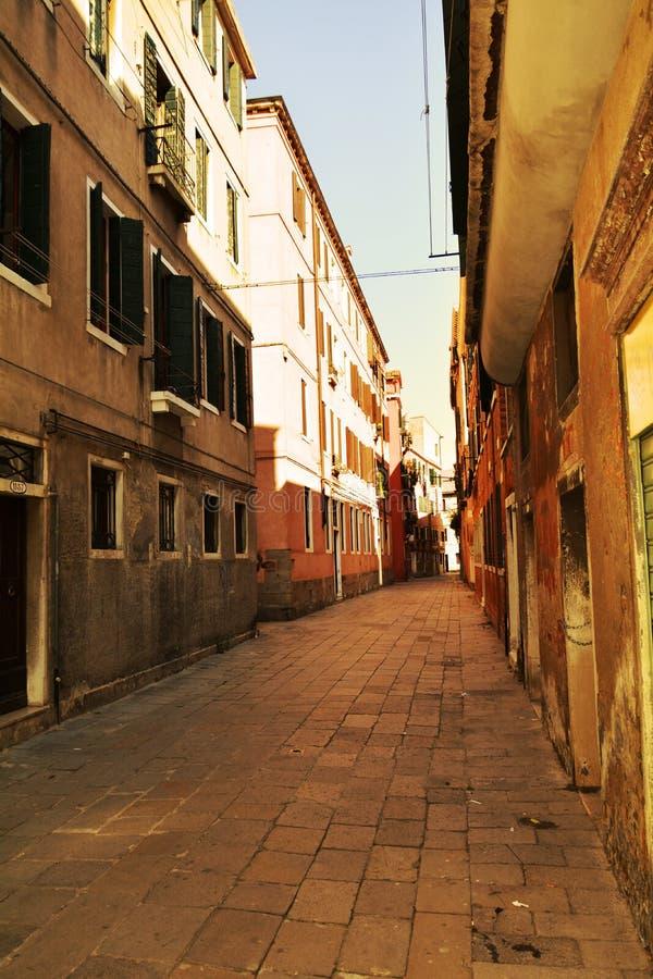 στενή οδός Βενετία στοκ φωτογραφία