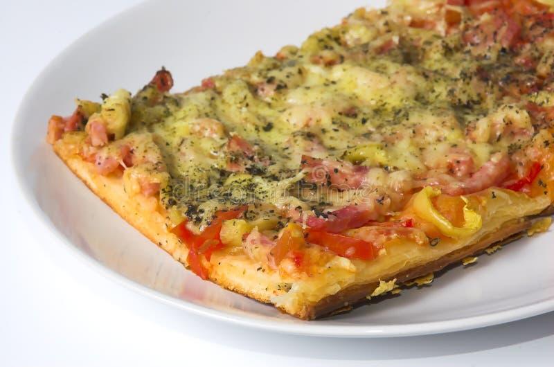 στενή πίτσα κομματιού επάνω στοκ εικόνα