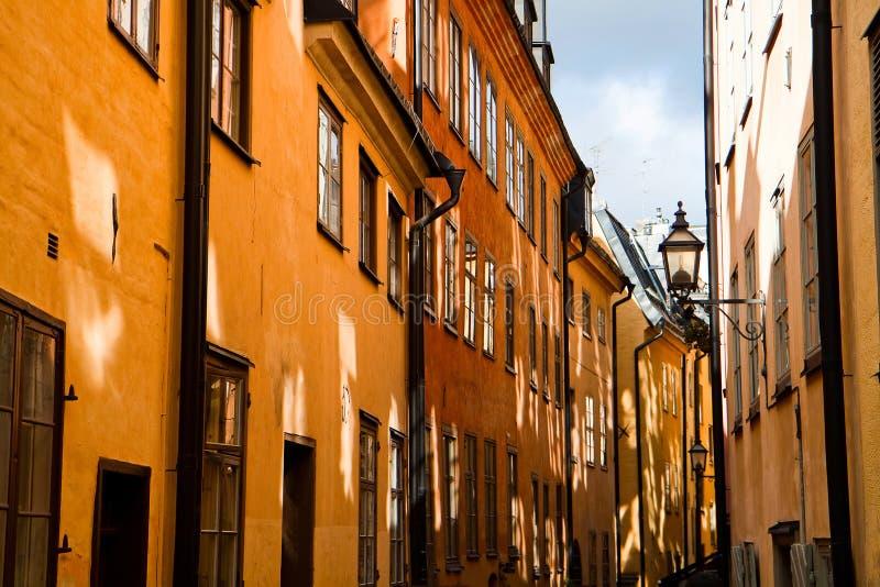 στενή παλαιά οδός της Στο&ka στοκ εικόνες
