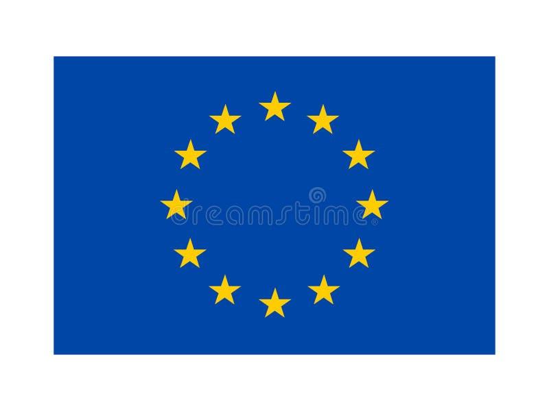 στενή σημαία της ΕΕ επάνω απεικόνιση αποθεμάτων