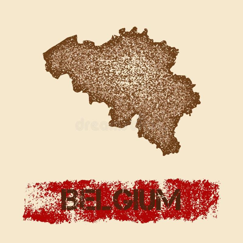 Στενοχωρημένος το Βέλγιο χάρτης ελεύθερη απεικόνιση δικαιώματος