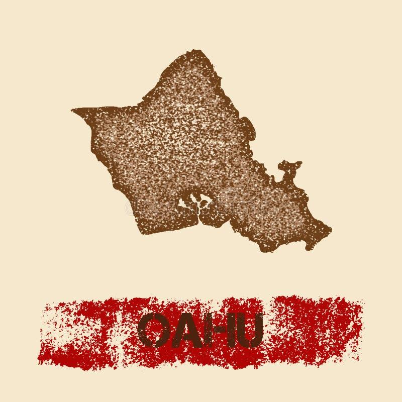 Στενοχωρημένος Oahu χάρτης απεικόνιση αποθεμάτων