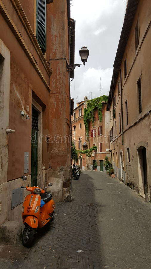 Στενωπός Trastevere, Ρώμη, Ιταλία στοκ εικόνες