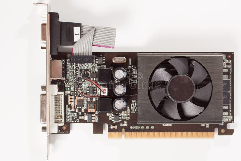 Στενός άποψης προσαρμοστής καρτών υπολογιστών τηλεοπτικός γραφικός στοκ φωτογραφίες