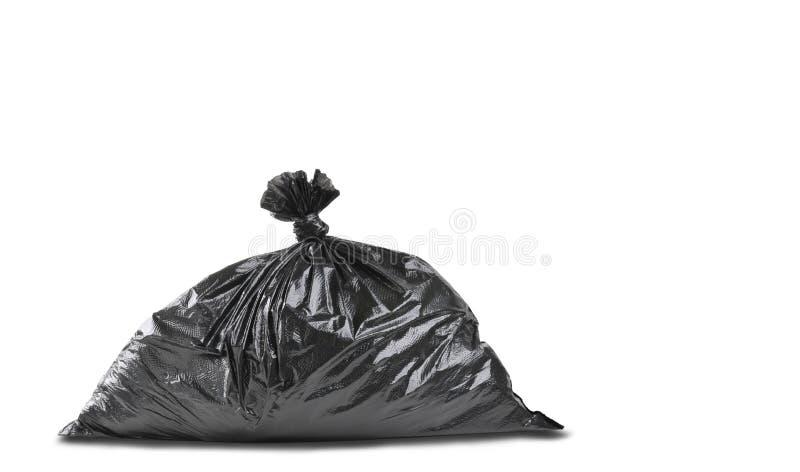 Στενός ένας επάνω μιας μαύρης τσάντας απορριμμάτων απορριμάτων στοκ φωτογραφία