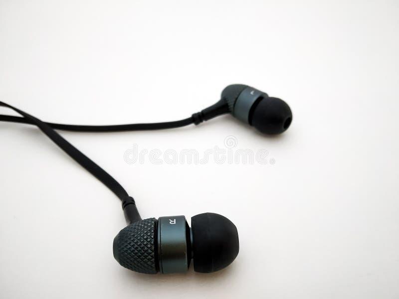 στενός επάνω ακουστικών ακουστικών στοκ φωτογραφία με δικαίωμα ελεύθερης χρήσης