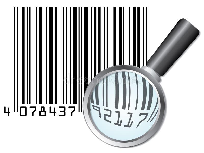 στενός επάνω γραμμωτών κωδί&k διανυσματική απεικόνιση