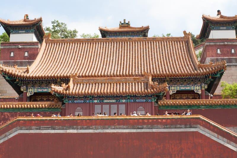Στενός επάνω ναών παραδοσιακού κινέζικου στοκ εικόνες