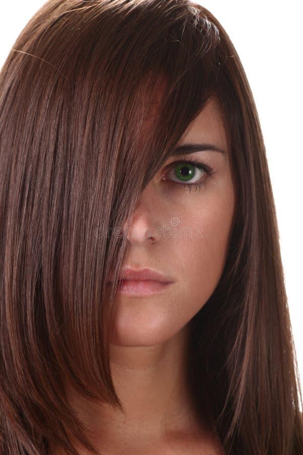 στενός επάνω brunette στοκ φωτογραφία με δικαίωμα ελεύθερης χρήσης