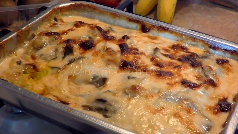 Στενός επάνω lasagna ψησίματος στοκ φωτογραφία με δικαίωμα ελεύθερης χρήσης
