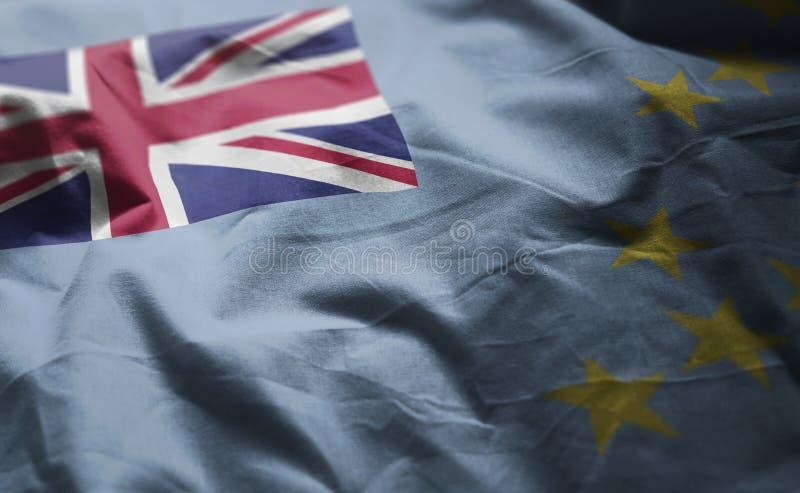 Στενός επάνω Rumpled σημαιών του Τουβαλού στοκ φωτογραφίες με δικαίωμα ελεύθερης χρήσης
