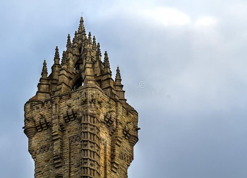 Στενός πυροβολισμός του μνημείου Wallace σε Stirling στοκ εικόνα