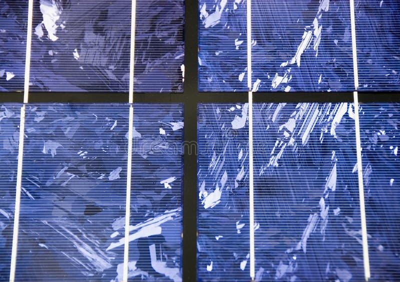 στενός σύγχρονος ηλιακός επάνω κυττάρων στοκ φωτογραφία