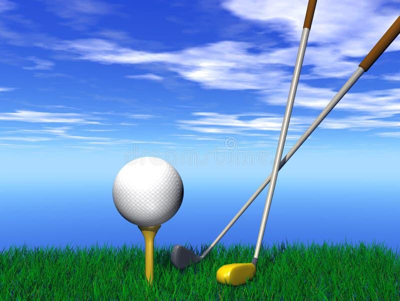 στενό γκολφ σφαιρών επάνω διανυσματική απεικόνιση
