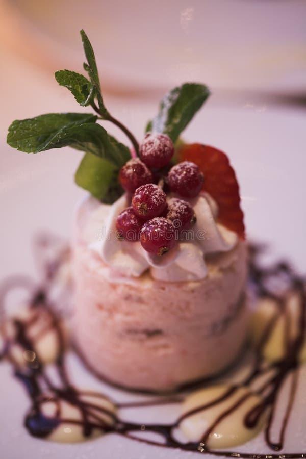 στενό γλυκό κέικ επάνω στοκ φωτογραφία