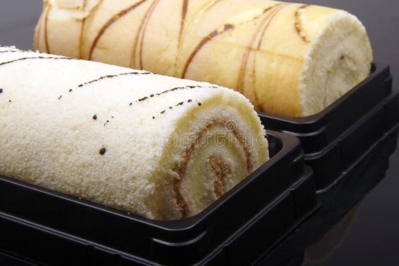 στενό γλυκό ρόλων κέικ επάν&ome στοκ φωτογραφίες