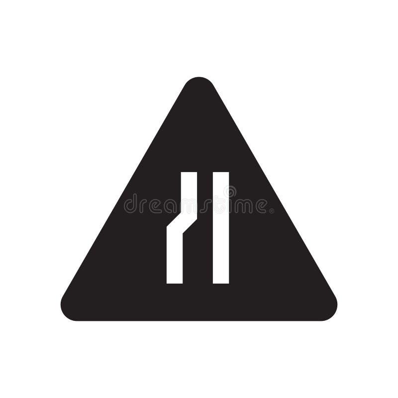 Στενό εικονίδιο οδικών σημαδιών  απεικόνιση αποθεμάτων