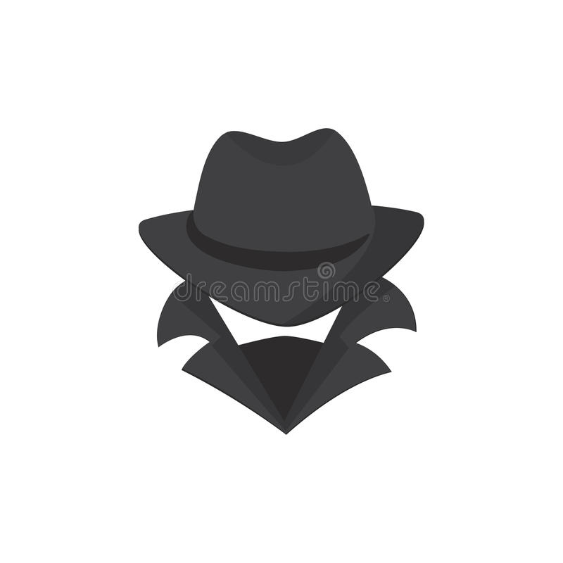 στενό λευκό χάκερ υπολογιστών ανασκόπησης επάνω Ένα άγνωστο άτομο σε ένα καπέλο και μια μάσκα διανυσματική απεικόνιση
