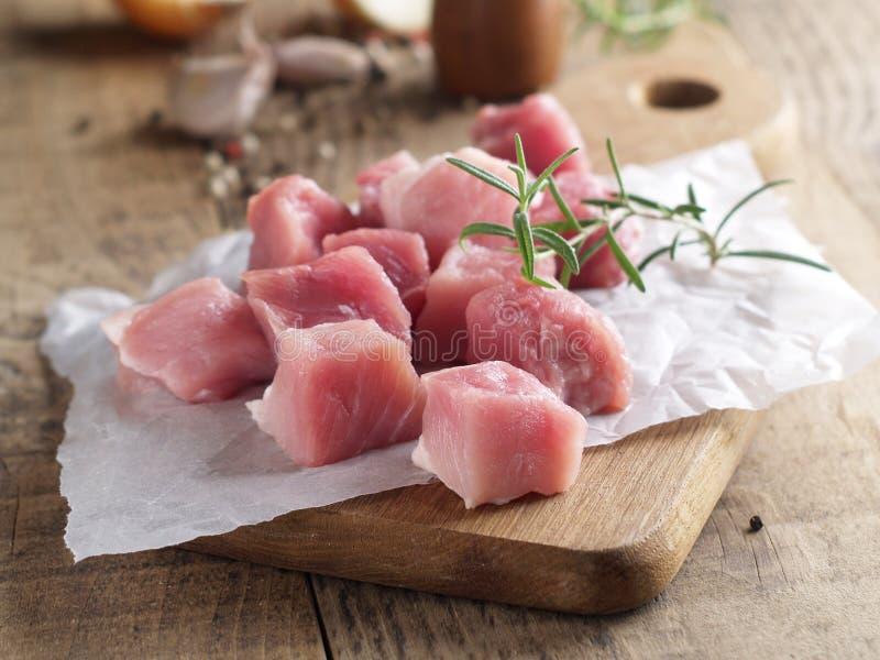 στενό λευκό χοιρινού κρέατος κρέατος ανασκόπησης επάνω στοκ εικόνα