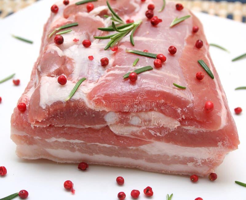 στενό λευκό χοιρινού κρέατος κρέατος ανασκόπησης επάνω στοκ εικόνες