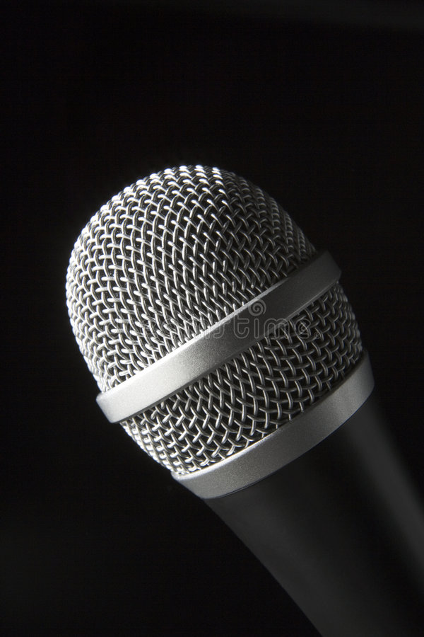 στενό μικρόφωνο επάνω στοκ εικόνα