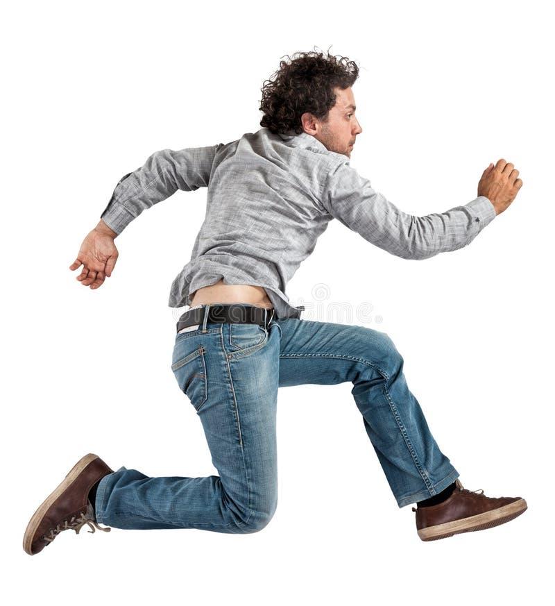 στενό πηδώντας άτομο που αυξάνεται στοκ εικόνες