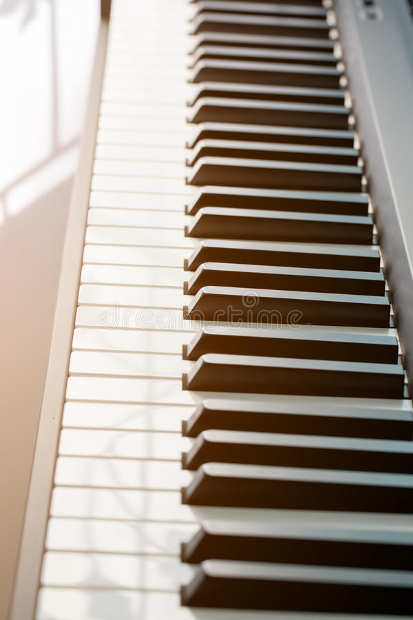στενό πιάνο πλήκτρων επάνω στοκ φωτογραφία