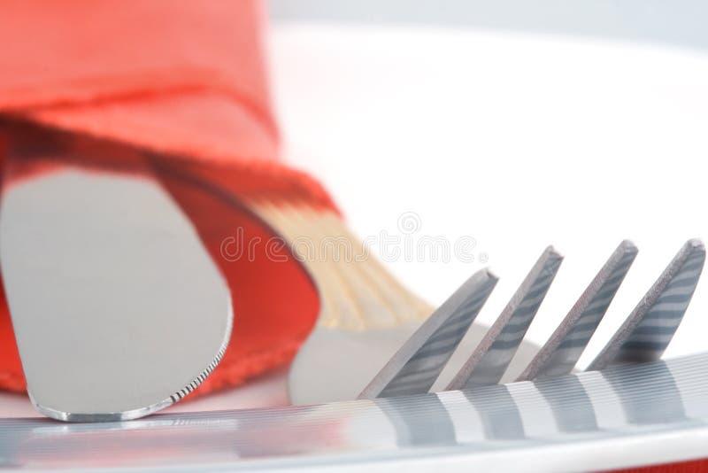 στενό πιάτο μαχαιροπήρουνων επάνω στοκ εικόνες