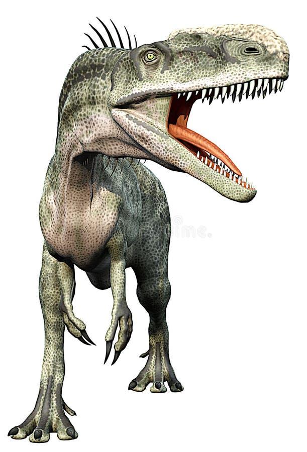 στενό πλήρες monolophosaurus σωμάτων επά& ελεύθερη απεικόνιση δικαιώματος