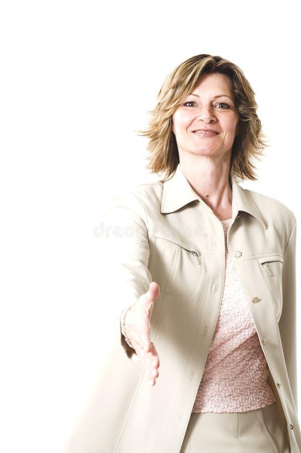 στενό χέρι που τινάζει επάν&omega στοκ φωτογραφίες με δικαίωμα ελεύθερης χρήσης