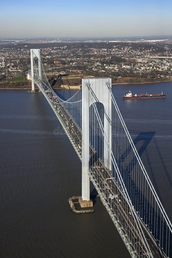 στενό s verrazano γεφυρών στοκ εικόνες