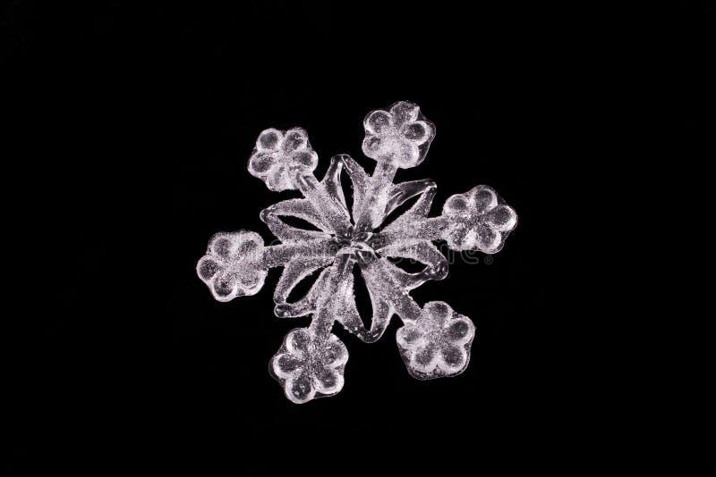 στενό snowflake επάνω λευκό στοκ εικόνες