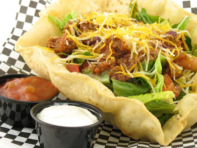 στενό taco σαλάτας στοκ φωτογραφίες