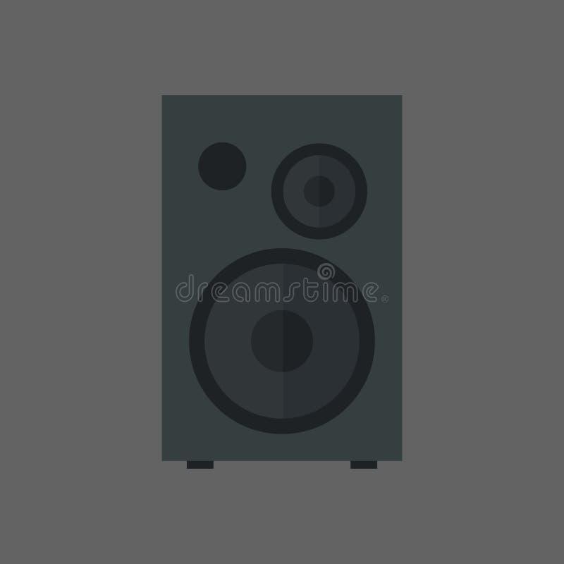 Στερεοφωνική έννοια συστημάτων στηλών εικονιδίων ομιλητών μουσικής απεικόνιση αποθεμάτων