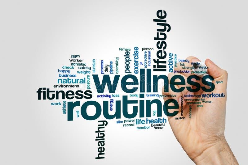 Στερεότυπο σύννεφο λέξης Wellness στοκ φωτογραφία με δικαίωμα ελεύθερης χρήσης