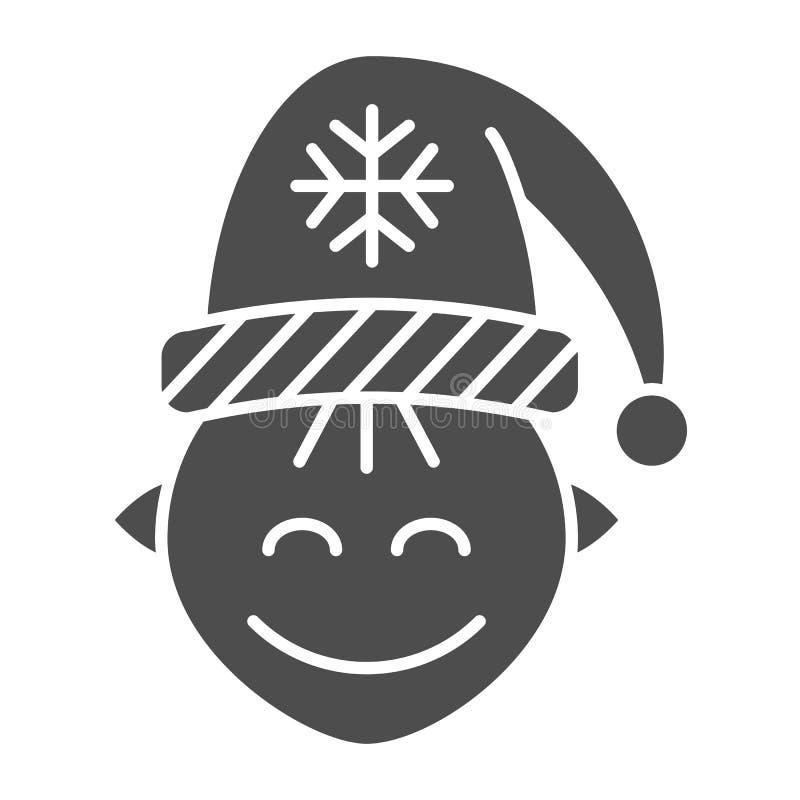 Στερεό εικονίδιο νεραιδών Santas Χριστουγέννων νεραιδών απεικόνιση που απομονώνεται διανυσματική στο λευκό Σχέδιο ύφους χαρακτήρα ελεύθερη απεικόνιση δικαιώματος