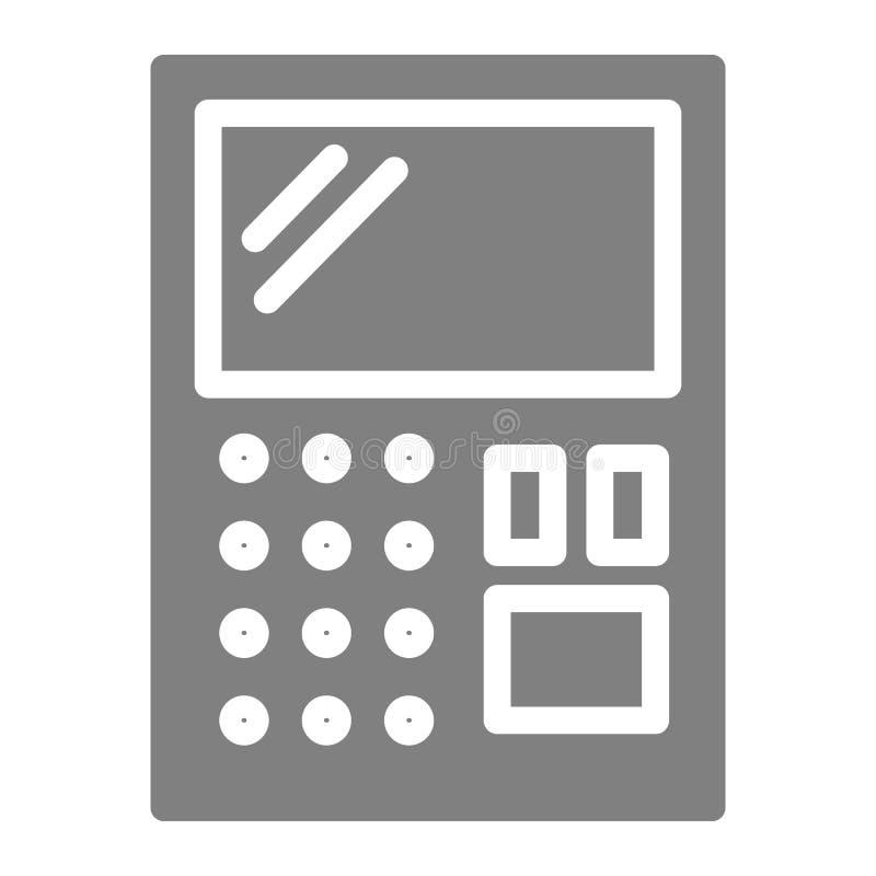 Στερεό εικονίδιο υπολογιστών Λογιστικής απεικόνιση που απομονώνεται διανυσματική στο λευκό Υπολογίστε glyph το σχέδιο ύφους, που  ελεύθερη απεικόνιση δικαιώματος