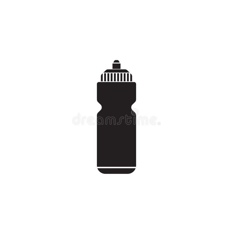 Στερεό εικονίδιο νερού αθλητικών μπουκαλιών, υδρο φιάλη ελεύθερη απεικόνιση δικαιώματος