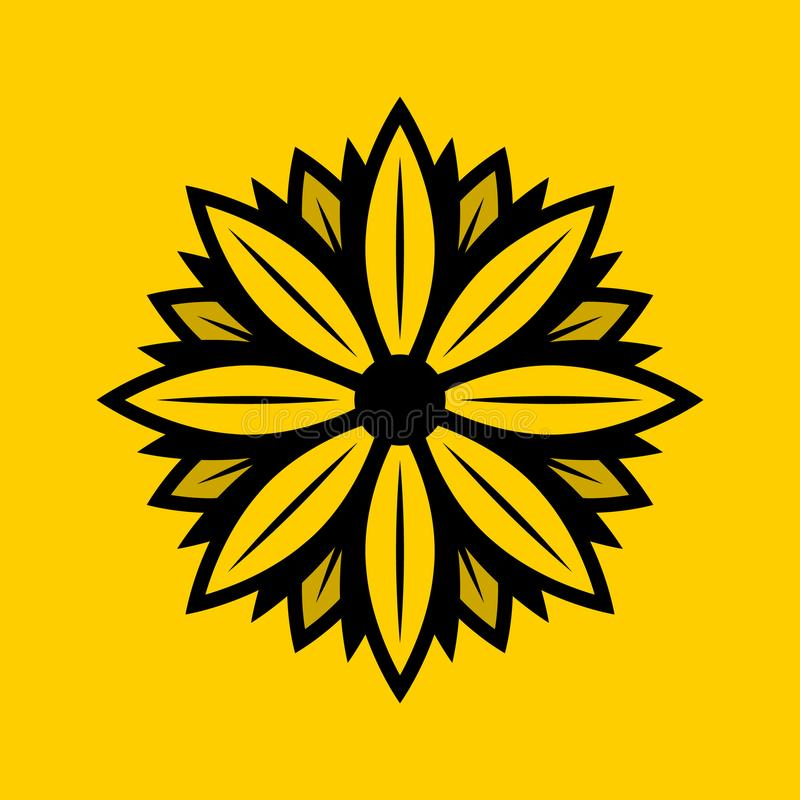 Στερεό σχέδιο λογότυπων της Daisy διανυσματική απεικόνιση